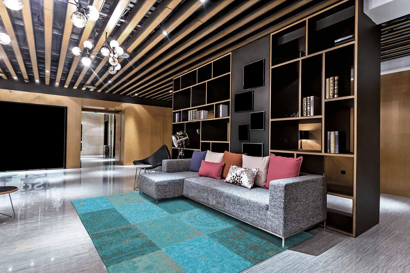 tapijt Louis De Poortere LX8015 Vintage Azur interior