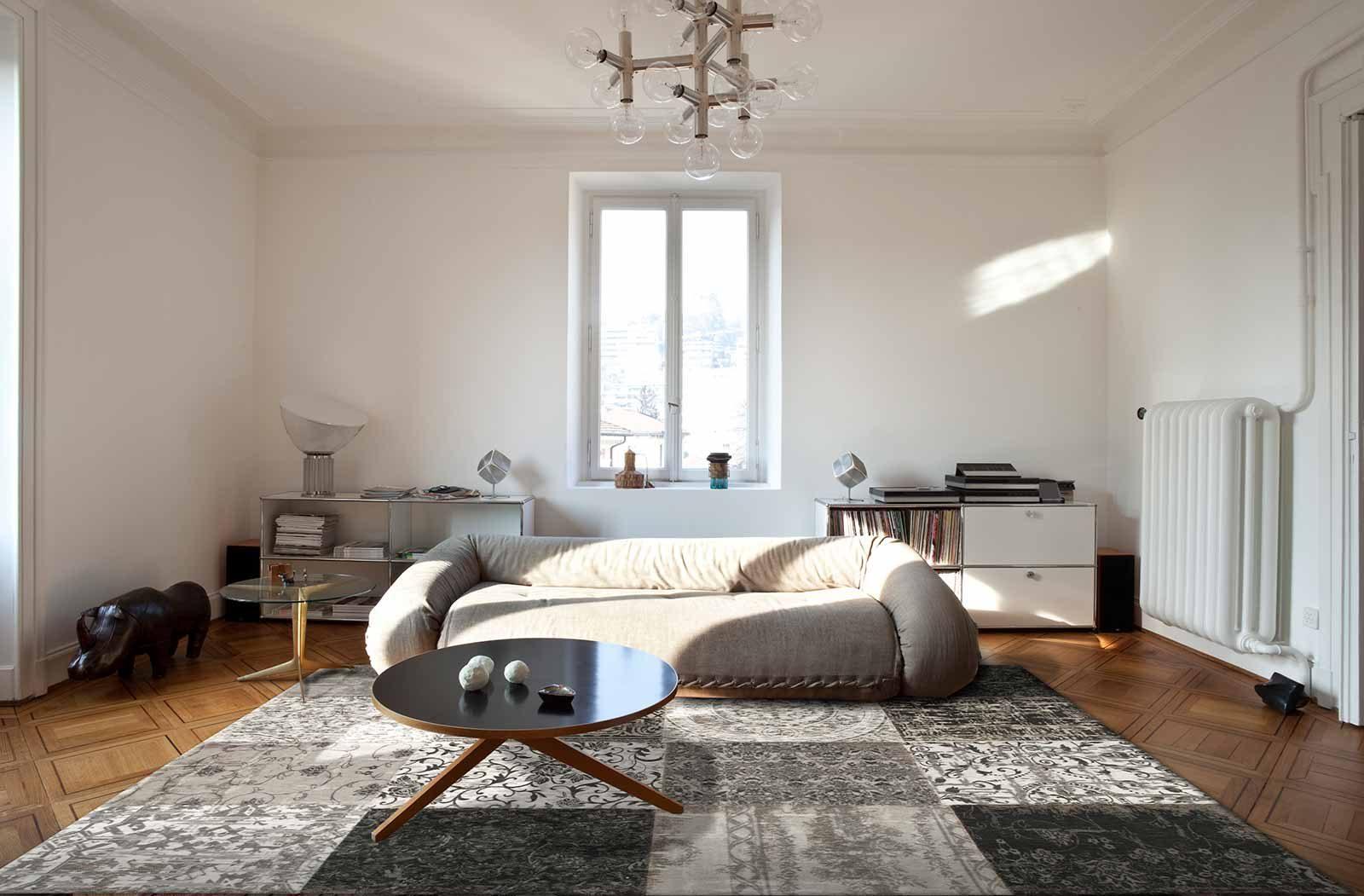 tapijt Louis De Poortere LX8101 Vintage Black White interior