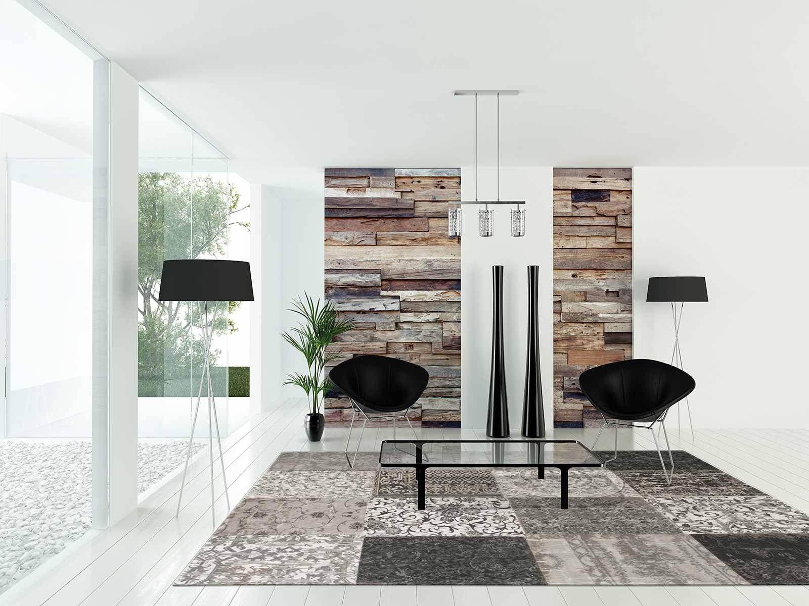 tapijt Louis De Poortere LX8101 Vintage Black White interior 2