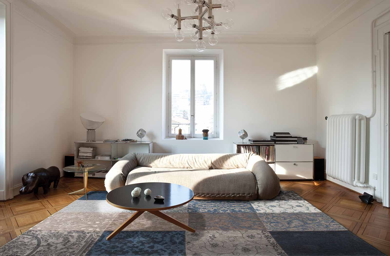 tapijt Louis De Poortere LX8108 Vintage Blue Denim interior