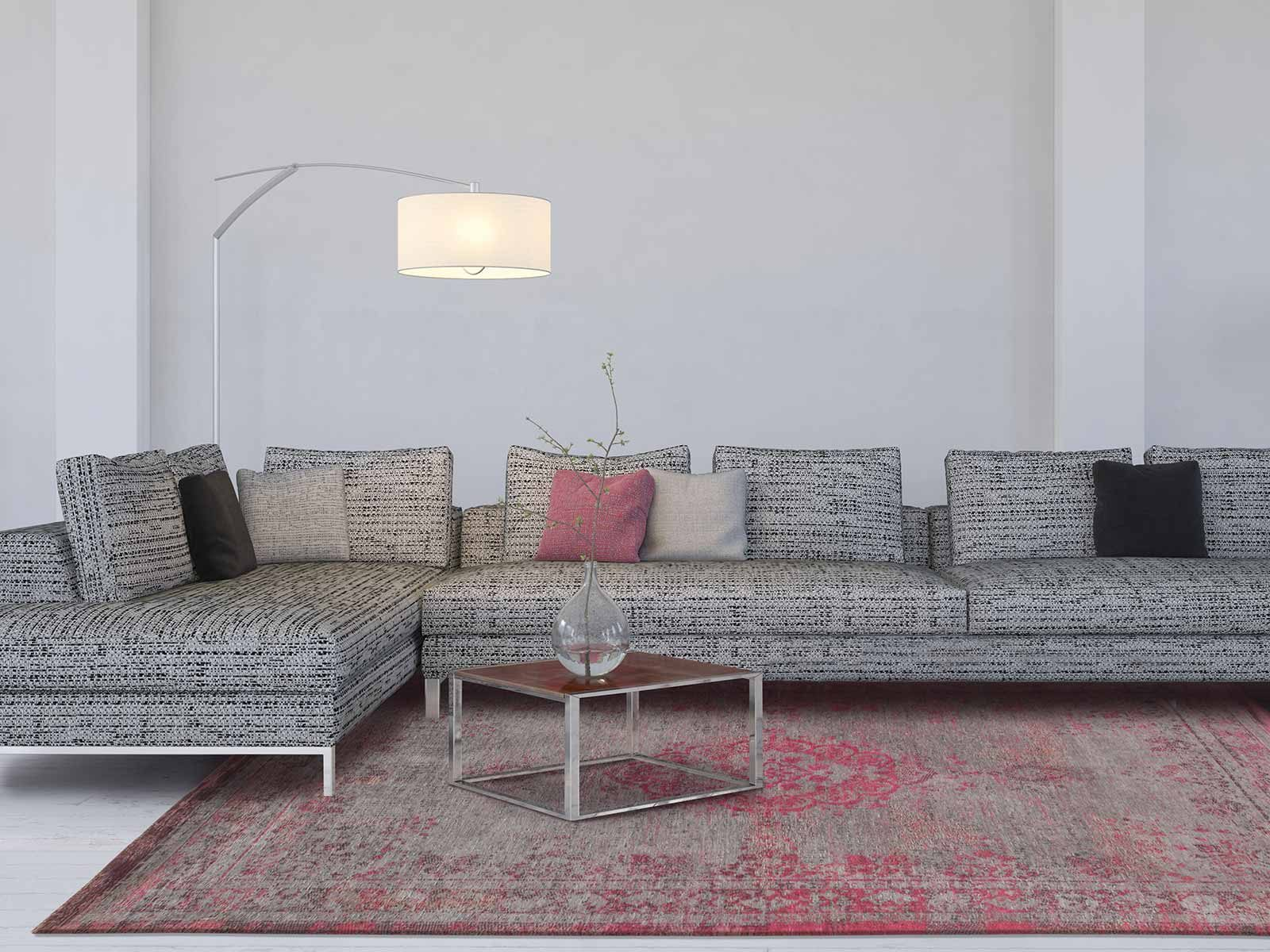 tapijt Louis De Poortere LX8261 Fading World Medaillon Pink Flash interior
