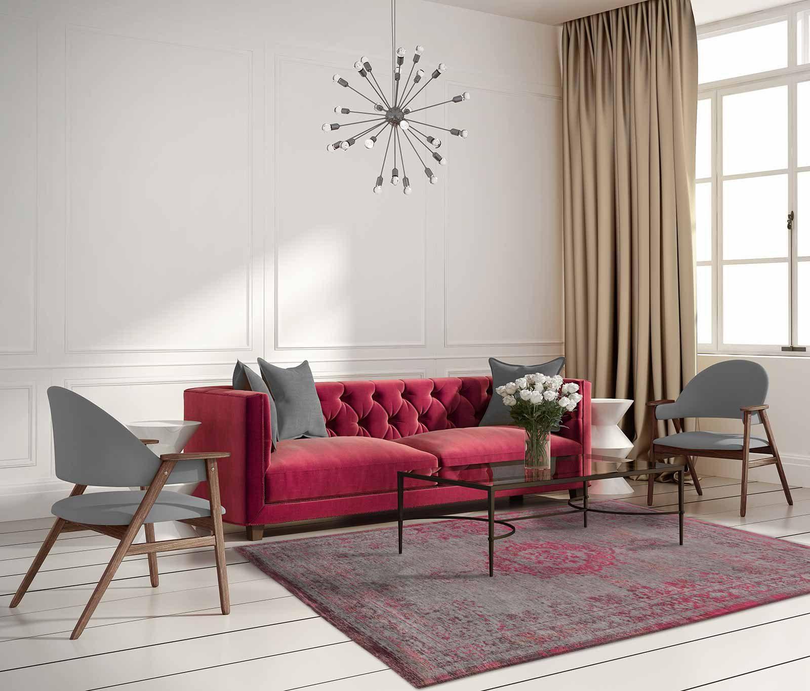 tapijt Louis De Poortere LX8261 Fading World Medaillon Pink Flash interior 2