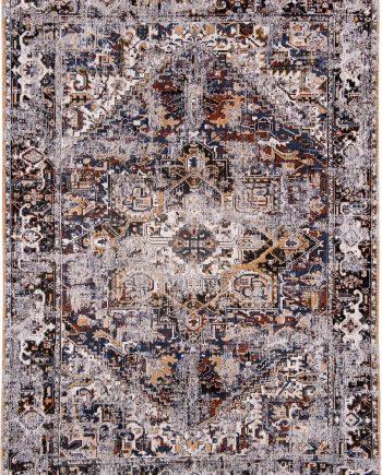 tapijt Louis De Poortere LX8707 Antiquarian Antique Heriz Divan Blue