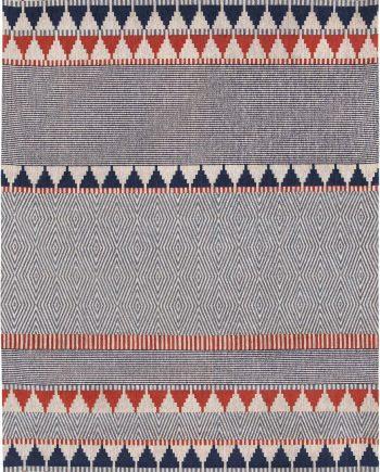 Louis De Poortere tapijt Villa Nova LX 8767 Tobi Indigo Tabasco