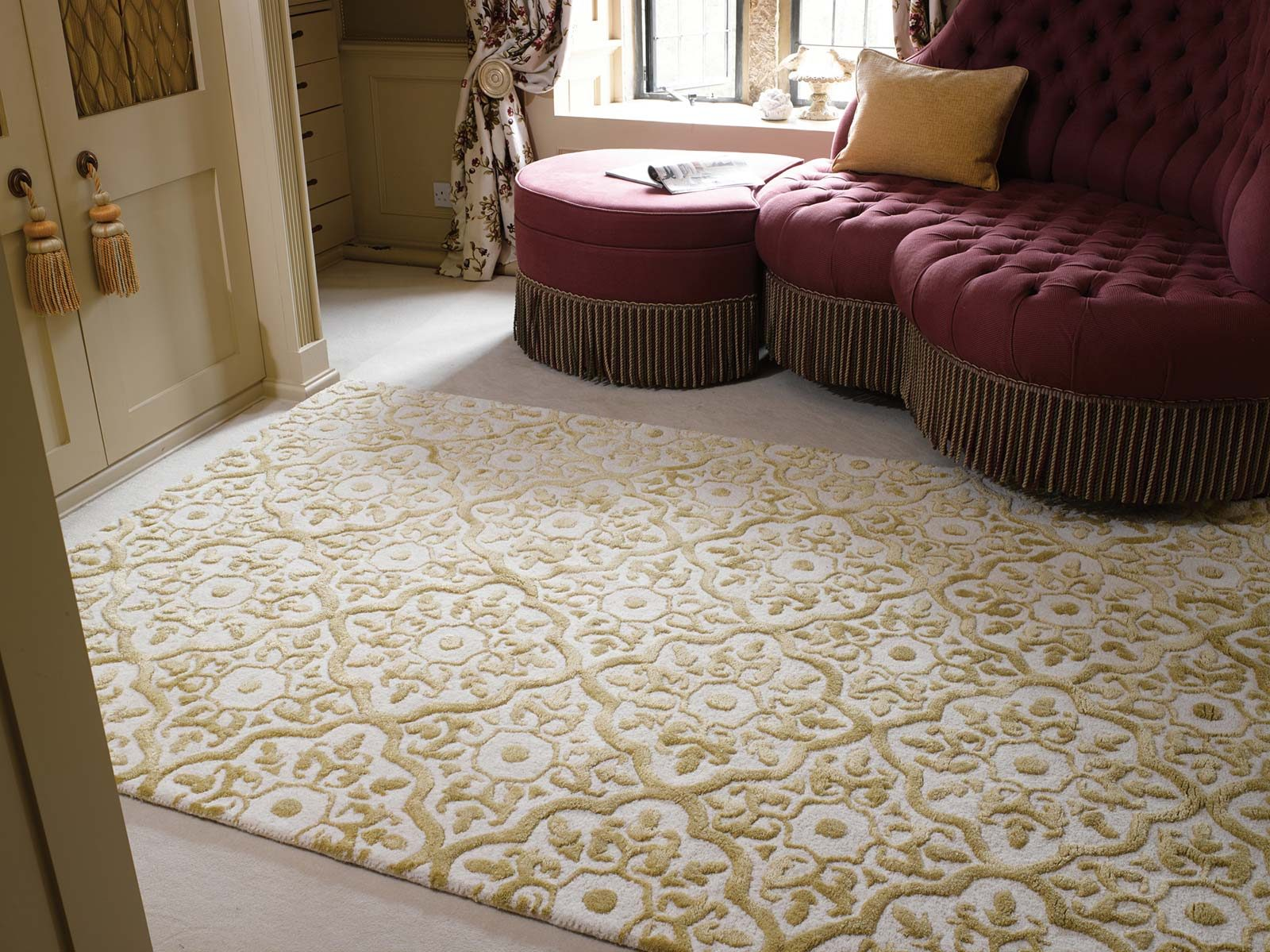 tapijt Luxmi Mayfair Knighsbridge Gold interior