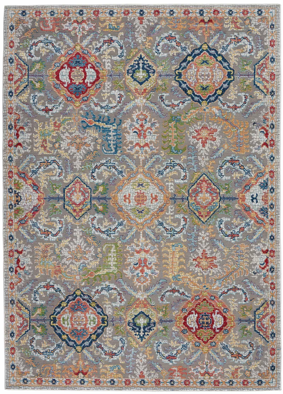 Andessi tapijt Ankara Global ANR12 GRYMT GREY MULTI 5x8 099446498205 flat C