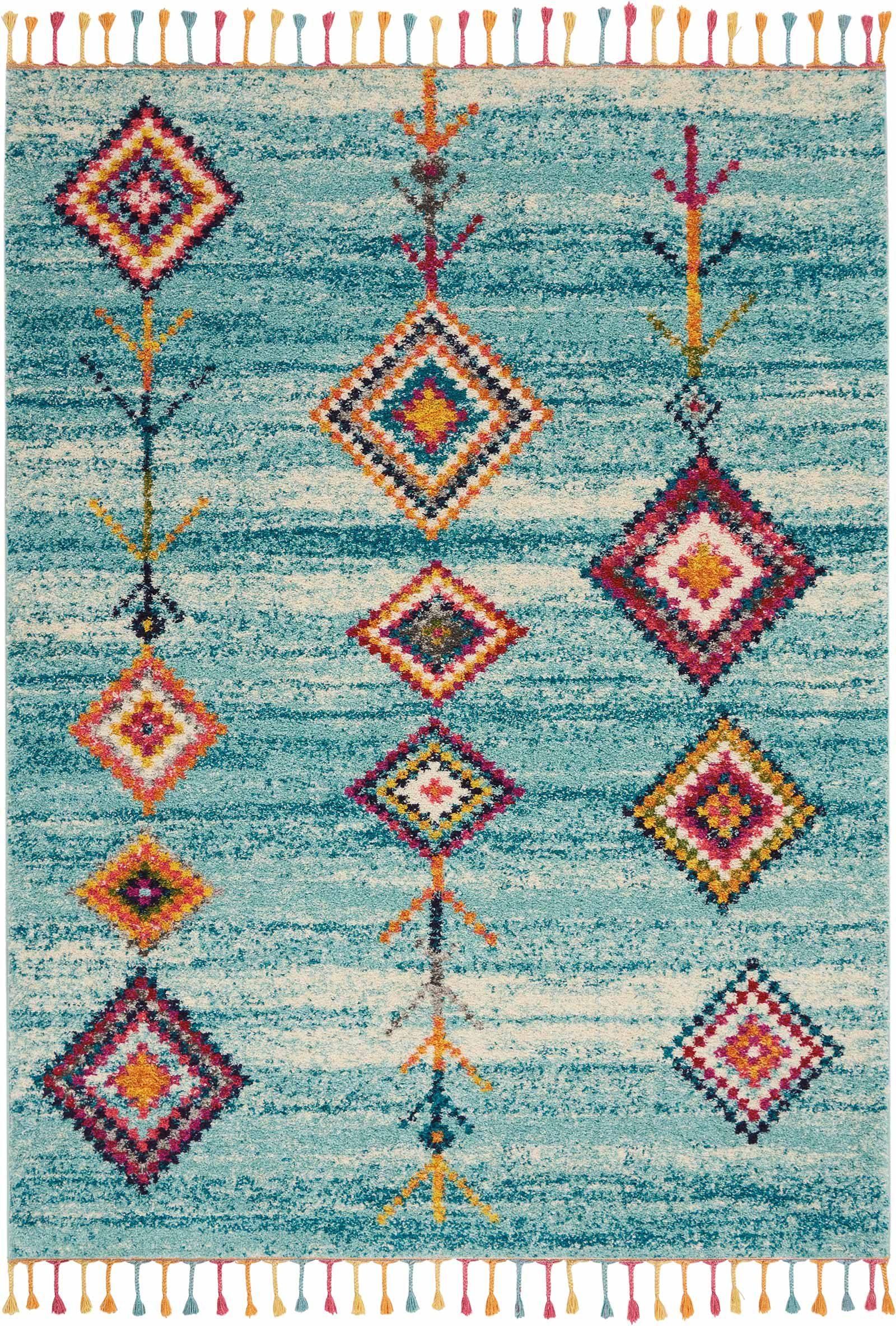 Andessi tapijt Nomad NMD04 AQUA 5x8 099446461490 main