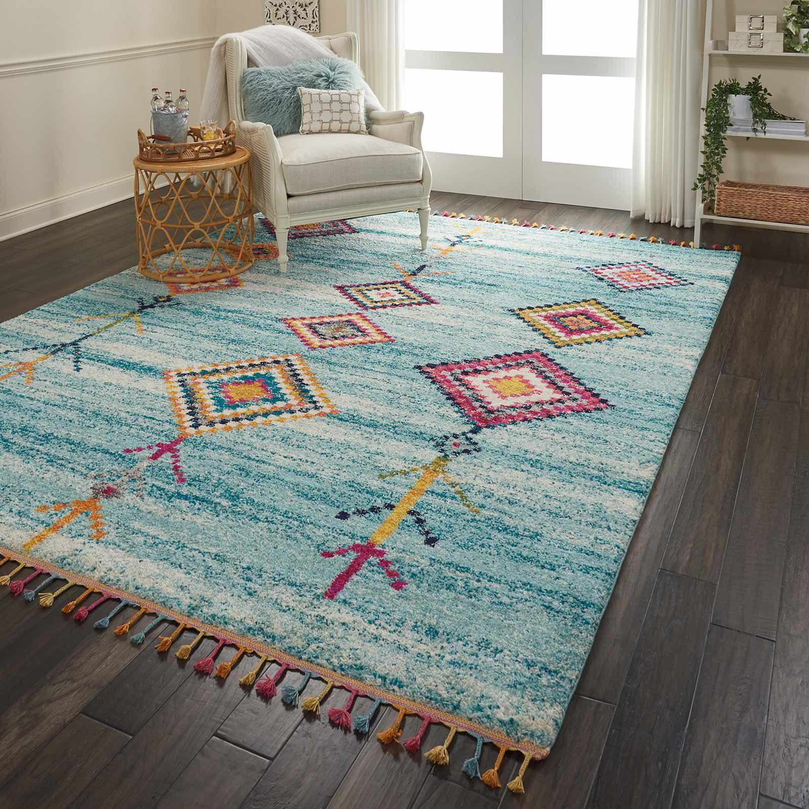 Andessi tapijt Nomad NMD04 AQUA 8x11 099446461506 interior 3