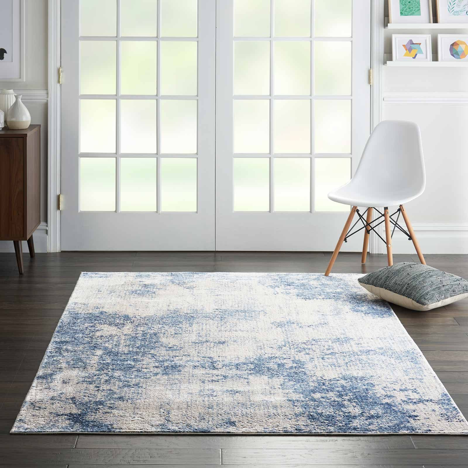 Andessi tapijt Silky Textures SLY01 IVORY BLUE 4x6 099446709677 interior 1 C