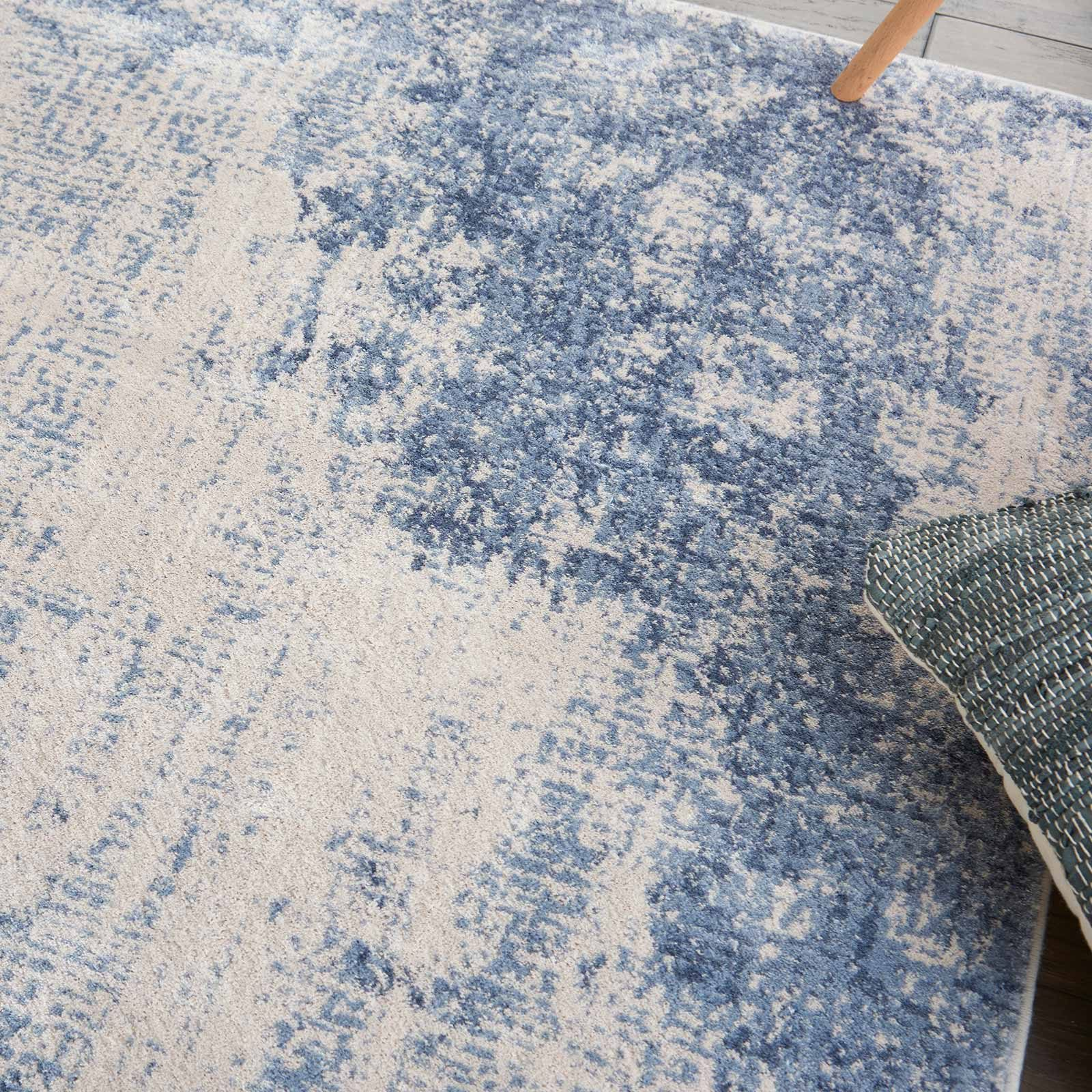 Andessi tapijt Silky Textures SLY01 IVORY BLUE 4x6 099446709677 interior 2 C