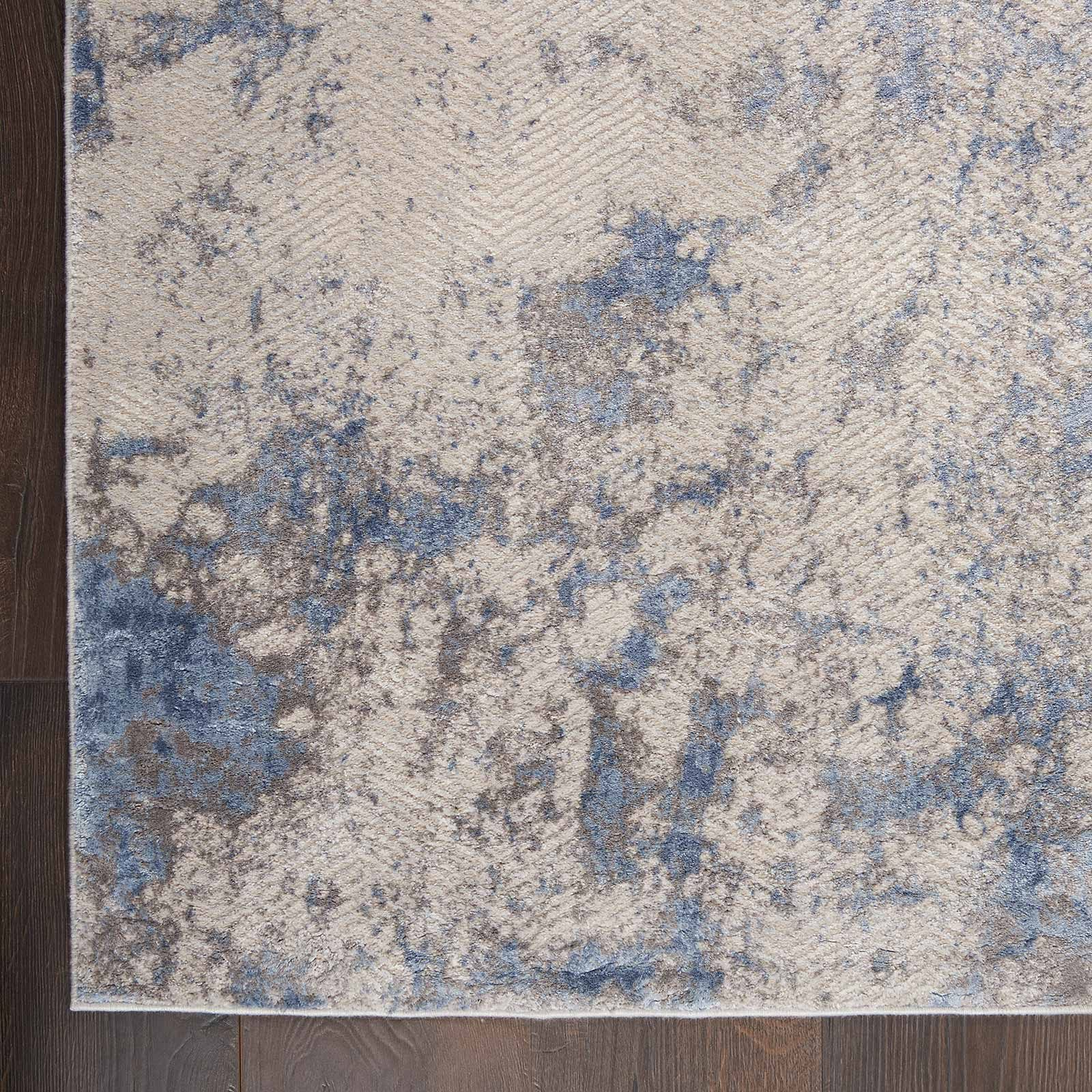 Andessi tapijt Silky Textures SLY04 BLUE IVORY GREY 5x7 099446710178 CR C