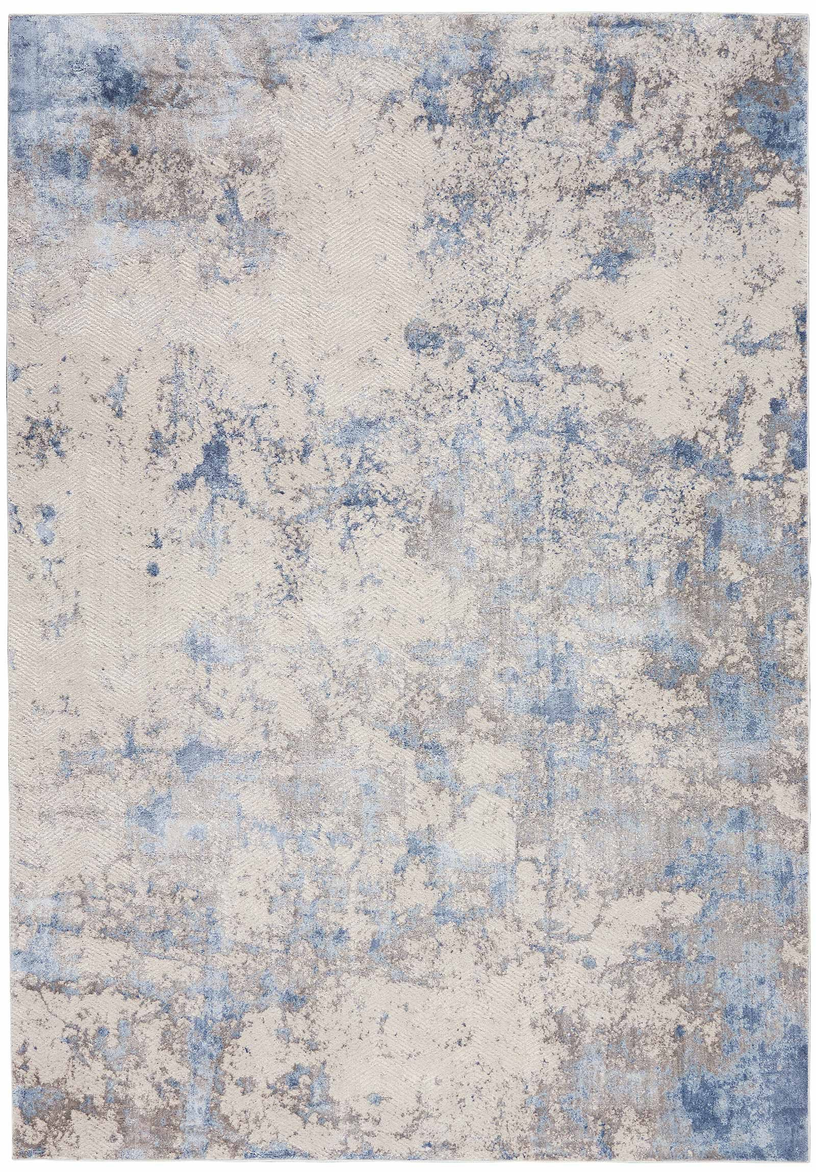 Andessi tapijt Silky Textures SLY04 BLUE IVORY GREY 5x7 099446710178 flat C