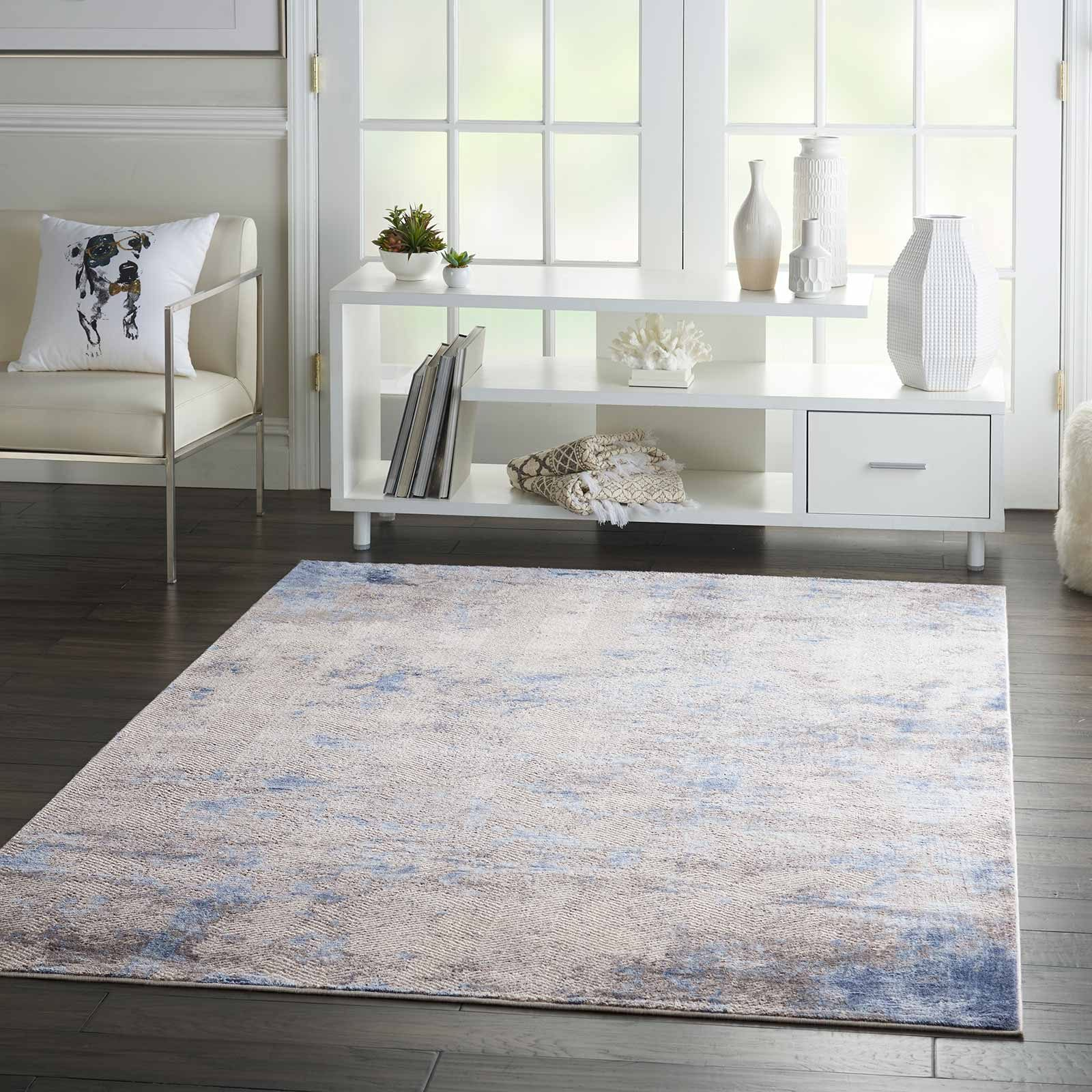 Andessi tapijt Silky Textures SLY04 BLUE IVORY GREY 5x7 099446710178 interior 3 C