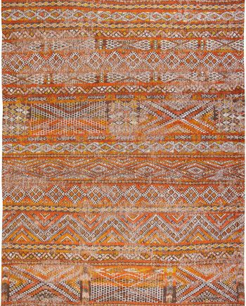 Louis De Poortere tapijt LX 9111 Antiquarian Kilim Riad Orange