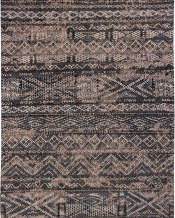 Louis De Poortere tapijt LX 9113 Antiquarian Kilim Black Rabat