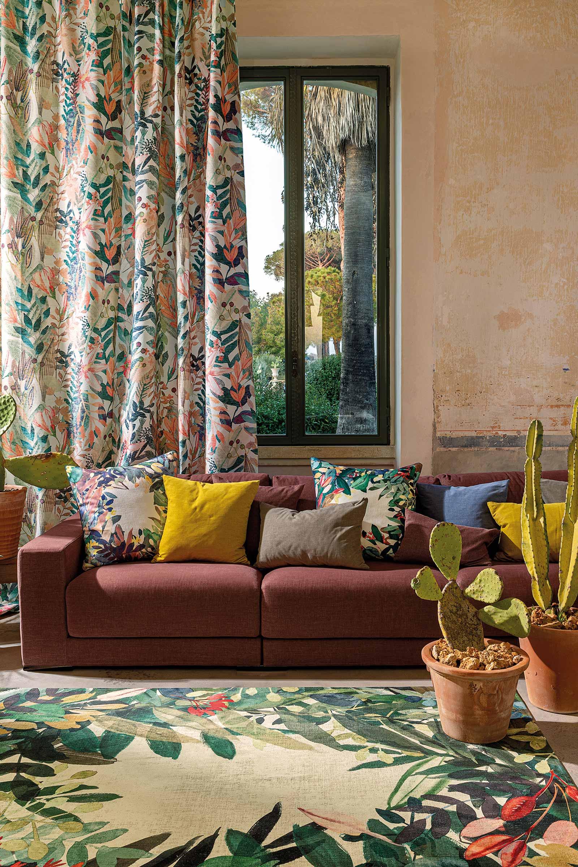 Louis De Poortere tapijt Fischbacher 8446 Estival Caliente interior