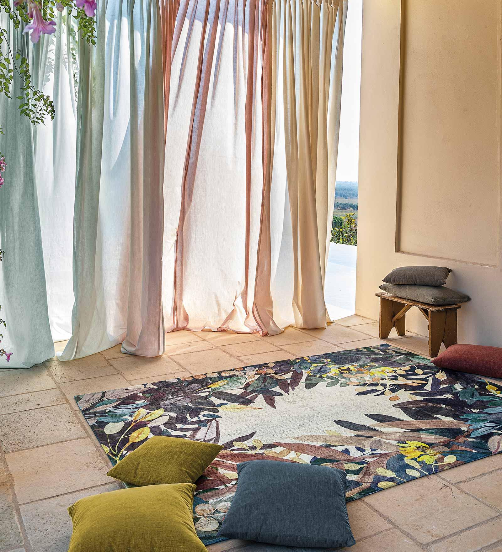 Louis De Poortere tapijt Fischbacher 8447 Estival Fresco interior